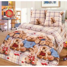 Детское постельное белье Топтыжки 1,5 сп. поплин.