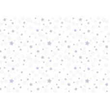 Ткань  фланель на отрез  детская б/з  ЗВЕЗДЫ-1