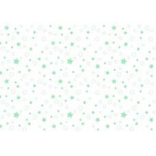 Ткань  фланель на отрез детская б/з  ЗВЕЗДЫ-3