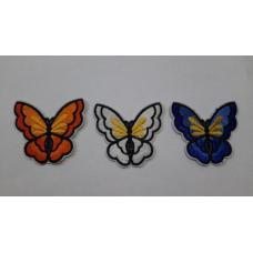 Аппликация бабочка, средний размер 7*7 см