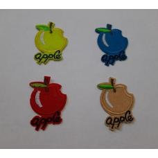 Аппликация apple, средний размер 4*4 см