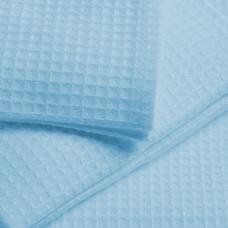 Ткань  на отрез вафельное полотно гладкокрашеное цв. голубой, 150 см