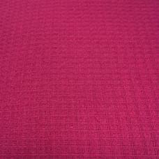 Ткань на отрез вафельное полотно гладкокрашеное цв. рубиновый, 150 см