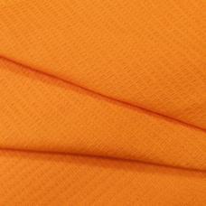 Ткань на отрез  вафельное полотно гладкокрашеное цв. оранжевый, 150 см
