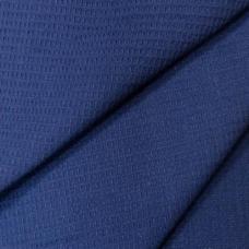 Ткань на отрез  вафельное полотно гладкокрашеное цв. тёмно-синий 150 см