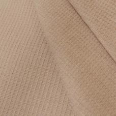 Ткань на отрез  вафельное полотно гладкокрашеное цв. шоколадный, 150 см