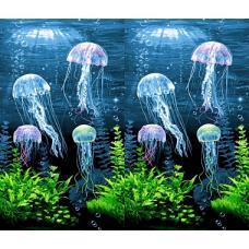 Вафельное полотно Медузы (3089)