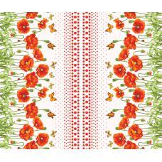 Вафельное полотно Маков цвет (438-4)