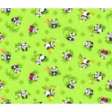 Вафельное полотно  Панды (375-2)