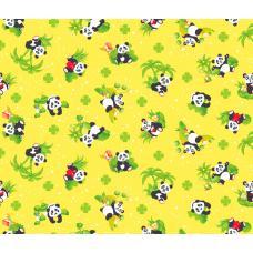 Вафельное полотно   Панды (375-3)