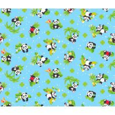 Вафельное полотно  Панды (375-1)