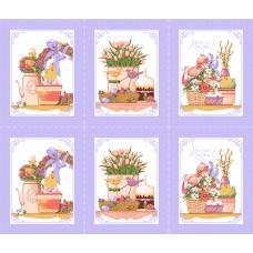 Вафельное полотно на отрез  Светлая пасха (3021-3)