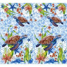 Вафельное полотно  на отрез Черепаха (3032)