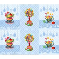 Вафельное полотно Пасхальное дерево (3020-1)