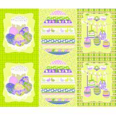 Вафельное полотно  Пасхальная открытка (451-2)