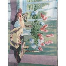 Гобелен на отрез купон 110*70 см тюльпаны