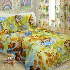 """Детское постельное бельё  поплин в кроватку  """"1789"""" Желтые девочки"""