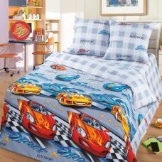 """Детское постельное бельё  поплин в кроватку """"Ралли"""""""