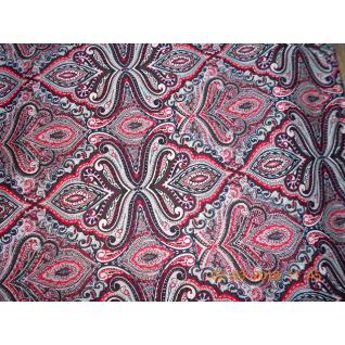 Ткань на отрез Кулирка Восточный мотив цвет красный