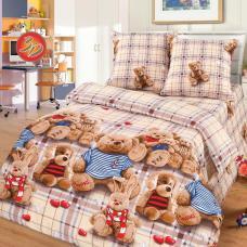 """Детское постельное бельё  поплин в кроватку  """"Топтыжки"""""""