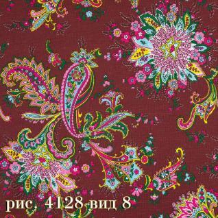 Ткань бязь плательная Хвост фон коричневый