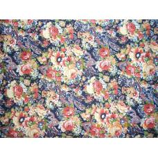 Ткань на отрез Кулирка Восточный цветок