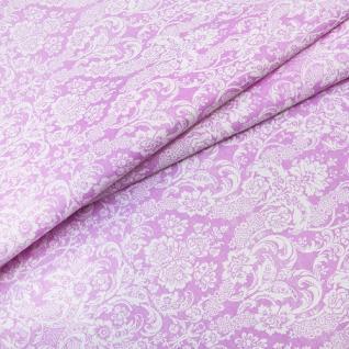 Ткань на отрез бязь Дамаск розовый