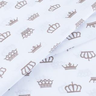 "Бязь на отрез на отрез ""Короны"" на белом 369-18"