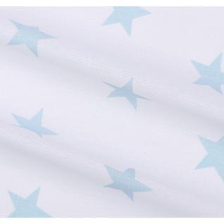 Бязь набивная Звезды (4 см) ментол б/з