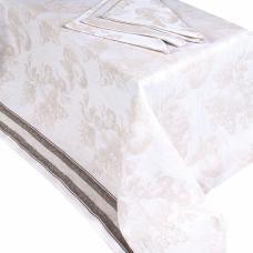 Столовый набор вид 6, скатерть полулен 150/150 + 6 салфеток
