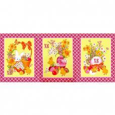 Набор вафельных полотенец 3 шт. Пасхальный цв. розовый 50/60 см