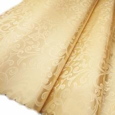 Портьерная ткань №22 цвет бежевый (вензель) 150 см