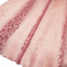 Портьерная ткань №25 цвет розовый (вензель) 150 см
