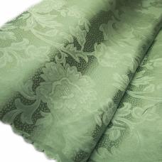 Портьерная ткань №28 цвет зелёный (вензель) 150 см