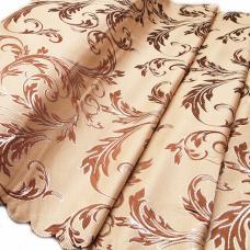 Портьерная ткань с люрексом Х7187 цвет №11 бежевый (ветка) 150 см