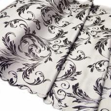 Портьерная ткань с люрексом Х7187 цвет №12 серый (ветка) 150 см