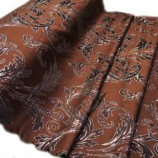 Портьерная ткань с люрексом Х7187 цвет №14 коричневый (ветка) 150 см