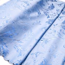 Портьерная ткань с люрексом Х7187 цвет №3 голубой (ветка) 150 см