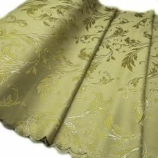 Портьерная ткань с люрексом Х7187 цвет №6 салатовый (ветка) 150 см