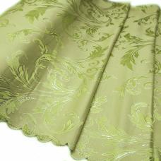 Портьерная ткань с люрексом Х7187 цвет №9 зеленый (ветка) 150 см