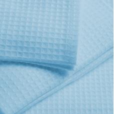Ткань вафельное полотно гладкокрашеное цв. голубой, 150 см