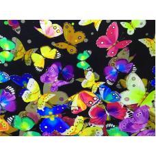 """Кулирка с лайкрой  """"бабочки"""" купон - Ш 180 см, Д 80 см"""