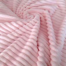Плюш королевская полоска розовая