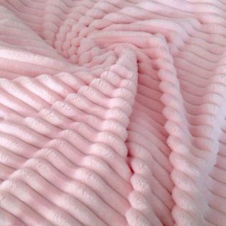 Плюш розовый в полоску