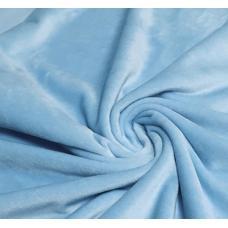 Плюш голубой гладкий
