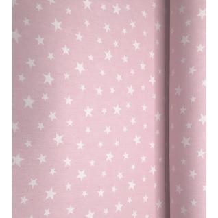 """Ткань на отрез поплин 13165-1 """"Звездочки розовые"""""""