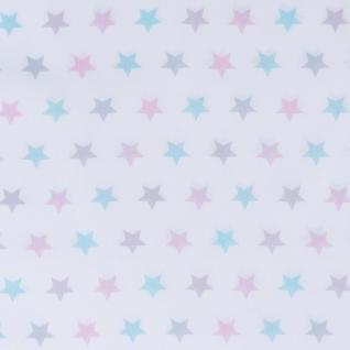 """Ткань поплин 13167-1 """"Звезды трехцветный"""""""