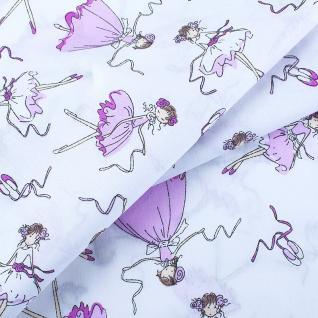 Ткань на отрез 1794-1 поплин детский «Балерины»