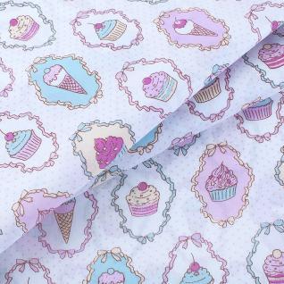Ткань на отрез 1795-1 поплин детский «Пирожное»