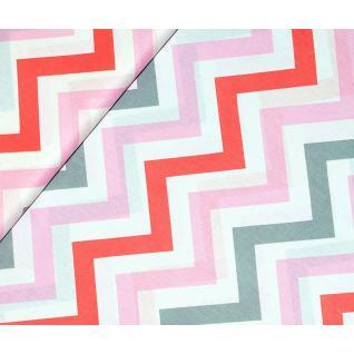 Ткань 1797-5 поплин детский «Зигзаги трехцветные»